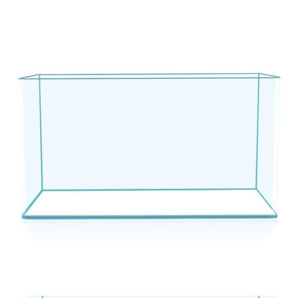 透明熱彎長方形玻璃金魚缸烏龜缸中小型辦公桌水族箱造景魚缸 20*14*16 mks免運