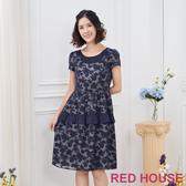 【RED HOUSE 蕾赫斯】花朵拼接洋裝