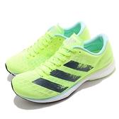 adidas 慢跑鞋 Adizero Adios 5 W 螢光黃 黑 馬拉松 輕量 女鞋 競速鞋 【ACS】 H68736