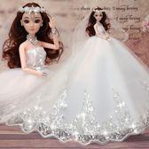 芭比娃娃大號芭比白雪公主洋娃娃婚紗兒童女孩玩具生日新年禮物套裝禮盒仙子