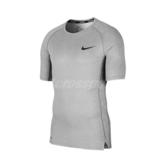 Nike 短袖T恤 Pro Tight-Fit Top 灰 黑 男款 緊身衣 訓練 運動 【ACS】 BV5632-085