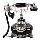 設計師美術精品館新款高檔老式仿古創意電話機歐式復古田園座式辦公家用古典電話機
