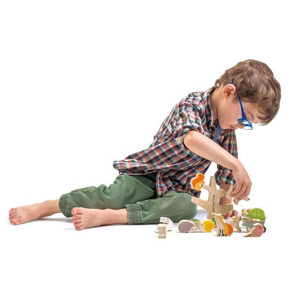 【美國Tender Leaf Toys】動物森林疊疊樂(積木益智遊戲)