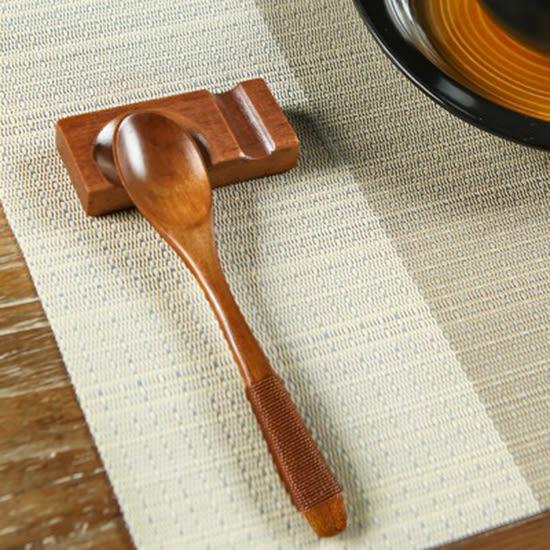 ♚MY COLOR♚日式木質湯匙 勺子 實用 餐具 家用 調羹 創意 手工 甜品 咖啡 蜂蜜 小湯勺 【J114】