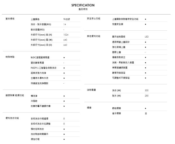 【TECO東元】14KG 變頻直立式洗衣機 W1468XS 免運費送基本安裝