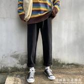 褲子男秋冬季闊腿黑色牛仔褲潮牌韓版潮流休閒長褲寬鬆百搭直筒褲  科炫數位
