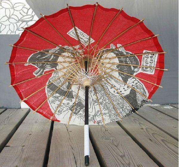 64直徑紅色浮世繪美人 小紙傘 /和風裝飾傘【藍星居家】