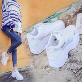 小白鞋老爹鞋女新款百搭運動鞋平底小白鞋韓版學生休閒單鞋春季 可然精品