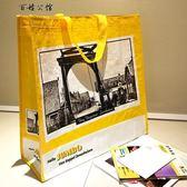 復古裝書手提袋子摺疊便攜環保購物袋女包  百姓公館
