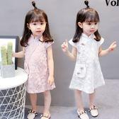 中國風女寶寶旗袍連身裙0-1-2-3歲4洋氣女童公主裙夏裝女嬰兒裙子 奇思妙想屋