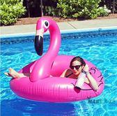 (超夯大放價)游泳圈 送氣筒 火烈鳥游泳圈加大加厚腋下圈充氣救生圈水上坐騎漂流浮床