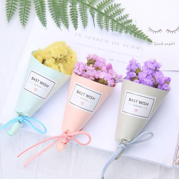 【BlueCat】彩色紙筒BEST WISH迷你手工乾燥花小花束 (紙盒裝)