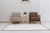 布藝租房小戶型經濟單人現代簡約休閒簡易實木窄沙發椅直網紅款  母親節禮物
