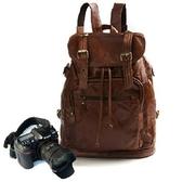 相機後背包-休閒時尚真皮旅行雙肩攝影包71a46【時尚巴黎】