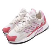 【五折特賣】adidas 休閒鞋 Tresc Run W 灰 粉紅 紅 女鞋 麂皮 復古慢跑鞋 運動鞋 【PUMP306】 EF1067