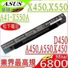 ASUS 電池(業界最高規)-華碩  X450,X452,X550,X552,Y481,Y482,Y581,Y582 E450,E550,F450,A41-X550,X550J