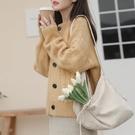 針織外套 寬松外穿短款上衣針織開衫毛衣女2021春秋新款百搭純色慵懶風外套 薇薇