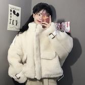 外套女秋冬裝百搭韓版新款寬鬆外穿抽繩網紅款保暖立領棉衣潮 雅楓居