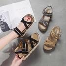 羅馬涼鞋女搭長裙子的鞋百搭仙女風原宿厚底鬆糕鞋