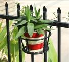 花架 簡約加大加粗窗台掛架陽台欄桿綠蘿花架懸掛花盆架護欄花架子