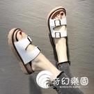 拖鞋-拖鞋女外穿夏季新款時尚百搭厚底松糕女鞋復古羅馬風涼拖-奇幻樂園13