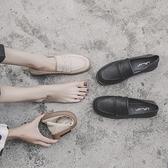 英倫小皮鞋女學院風夏季2020新款韓版百搭樂福鞋女軟皮平底單鞋女 【蜜糖sugar】
