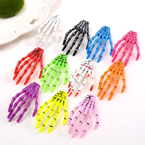 【TwinS伯澄】《骷髗手爪髮夾》手骨髮夾鬼爪髮卡水晶同款日本原宿髮飾