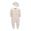 mothercare 秋冬女嬰繽紛花園帶腳套連身兔裝-夢想樂園-白色(M0JF258)09M、12M、18M