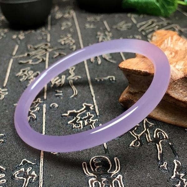 玉手鐲 天然巴西玉髓藕粉色少女款美人條手鐲子冰種瑪瑙仙女細圓叮當 歐歐