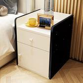 交換禮物-床頭櫃簡約現代小櫃子儲物櫃帶抽屜簡約臥室儲物櫃床邊櫃子儲藏櫃wy