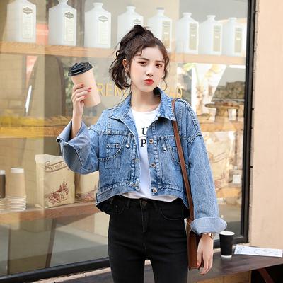 大碼女裝 大碼牛仔外套夾克ins牛仔外套女短款N511B日韓屋