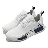 adidas 休閒鞋 NMD_R1 白 深藍 BOOST 愛迪達 三葉草 男鞋 女鞋 【ACS】 FX6795