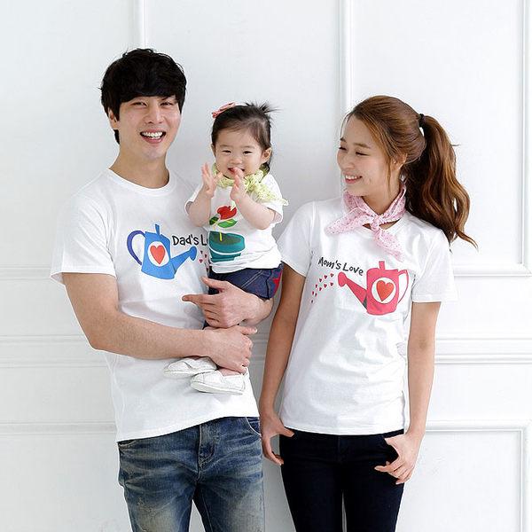 親子裝。愛的灌溉綿質短袖T恤家庭裝(大人) (AC40506) *繪米熊童裝*