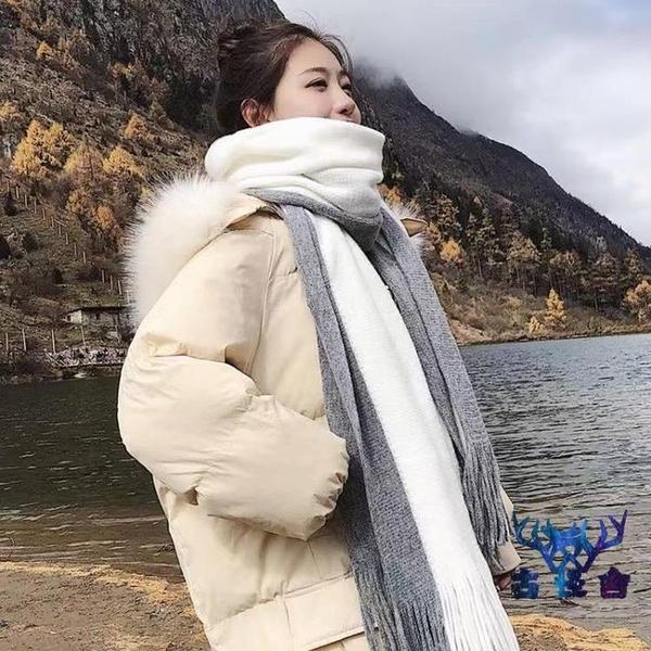 圍巾女秋冬季保暖針織長款外搭圍脖【古怪舍】