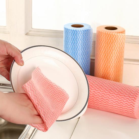 撕式不織布免洗抹布 餐巾紙 廚房紙巾 一次性 去汙 衛生紙 廚房 清潔 大掃除 吸水【N194】慢思行