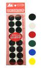 義大文具~ A+A 自黏性黏扣帶 圓型直徑22mm x 8組 (黑/白/紅/藍/綠/黃)