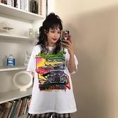 (下殺)彈性棉短袖t恤女中長版【08SG06484】