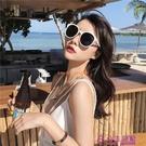 韓版墨鏡潮女圓臉網美款偏光太陽鏡防紫外線個性街拍近視眼鏡開車【公主日記】