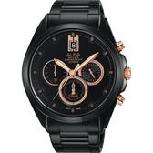ALBA 雅柏 情人節限量計時手錶-黑/43mm VD53-X264K(AT3B11X1)