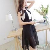 洋裝 彩黛妃 春夏新款韓版大碼顯瘦無袖女裝時尚百搭潮流修身連身裙 新年鉅惠