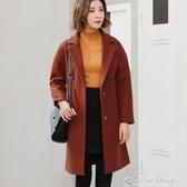 秋冬新款韓版顯瘦大碼子大衣中長款外套女裝 交換禮物