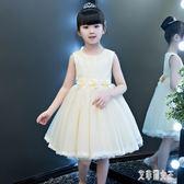 女童洋裝公主裙蓬蓬紗兒童主持人晚禮服裙子小花童婚紗裙鋼琴演出服夏 LJ4578【艾菲爾女王】