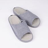日本設計素面按摩拖鞋 -灰M