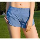 糖果色雙層防走光運動短褲 有口袋