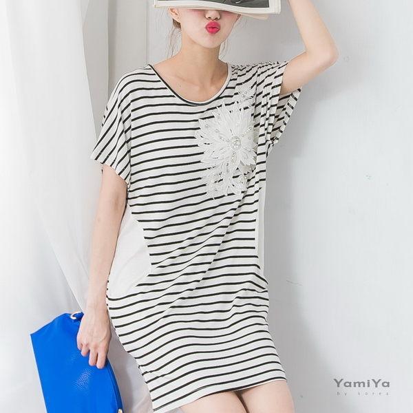 繡珠蕾絲花口袋洋裝  -ONi STORE歐妮豆豆【416116】