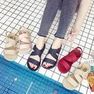 羅馬涼鞋百搭簡約風露趾平底休閒糖果色羅馬涼鞋【02S12384】