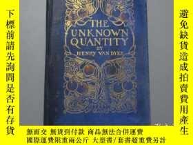 二手書博民逛書店英文原版:The罕見Unknown Quantity【精裝 毛邊