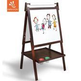 咖啡色雙面磁性實木可升降兒童畫板畫架黑板繪畫支架式   聖誕節歡樂購