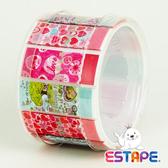 【奇奇文具】【ESTAPE】RHS6012 抽取式易撕貼 OPP 膠帶/創意膠帶/裝飾膠帶 (好心情/情人版組合)