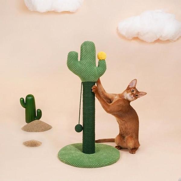 一佳寵物館 立起來的仙人掌抓板小爬架貓咪自嗨玩具抓柱磨爪